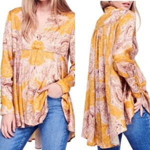 Free People Field Of Butterflies Babydoll Tunic L